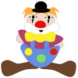 Simple Clown. An illustration of a colourful clown royalty free illustration
