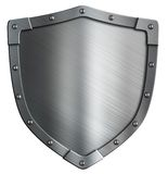 Simple coat of arms metal shield isolated. Simple coat of arms shield isolated on white Stock Images