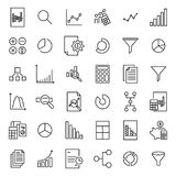 Simple collection of analytic related line icons. Royalty Free Stock Photo