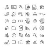 Simple collection of banking related line icons. Stock Photography