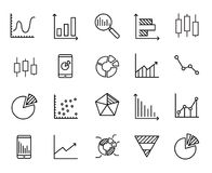 Simple collection of business data related line icons. Thin line vector set of signs for infographic, logo, app development and website design. Premium symbols Royalty Free Stock Images