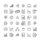 Simple collection of business related line icons. Thin line vector set of signs for infographic, logo, app development and website design. Premium symbols Stock Image