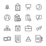 Simple collection of business related line icons. Thin line vector set of signs for infographic, logo, app development and website design. Premium symbols Royalty Free Stock Photos