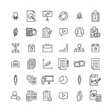 Simple collection of business related line icons. Thin line vector set of signs for infographic, logo, app development and website design. Premium symbols Royalty Free Stock Photography