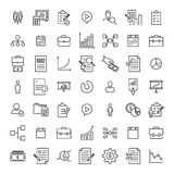 Simple collection of business related line icons. Thin line vector set of signs for infographic, logo, app development and website design. Premium symbols Stock Photo