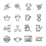 Simple collection of business strategy related line icons. Thin line vector set of signs for infographic, logo, app development and website design. Premium Royalty Free Stock Images