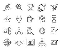 Simple collection of business strategy related line icons. Thin line vector set of signs for infographic, logo, app development and website design. Premium Royalty Free Stock Photography