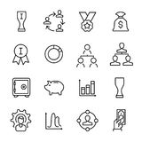 Simple collection of entrepreneurship related line icons. Thin line vector set of signs for infographic, logo, app development and website design. Premium Royalty Free Stock Images