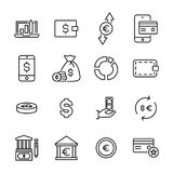 Simple collection of finance related line icons. Thin line  set of signs for infographic, logo, app development and website design. Premium symbols isolated on Stock Photo