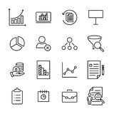 Simple collection of freelance related line icons. Stock Photo