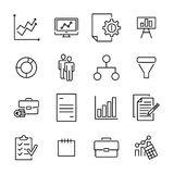 Simple collection of freelance related line icons. Stock Photography