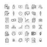 Simple collection of management related line icons. Thin line vector set of signs for infographic, logo, app development and website design. Premium symbols Royalty Free Stock Photo