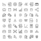 Simple collection of management related line icons. Thin line vector set of signs for infographic, logo, app development and website design. Premium symbols Royalty Free Stock Image