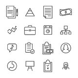 Simple collection of management related line icons. Royalty Free Stock Image