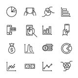 Simple collection of personal budget related line icons. Thin line vector set of signs for infographic, logo, app development and website design. Premium Royalty Free Stock Images