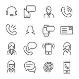 Simple collection of personal service related line icons. Stock Photography