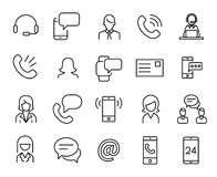 Simple collection of personal service related line icons. Thin line vector set of signs for infographic, logo, app development and website design. Premium Stock Images
