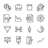 Simple collection of strategy related line icons. Thin line vector set of signs for infographic, logo, app development and website design. Premium symbols Stock Photos
