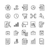 Simple collection of strategy related line icons. Thin line vector set of signs for infographic, logo, app development and website design. Premium symbols Royalty Free Stock Photos
