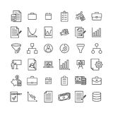 Simple collection of strategy related line icons. Thin line vector set of signs for infographic, logo, app development and website design. Premium symbols Royalty Free Stock Images