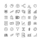 Simple collection of strategy related line icons. Thin line vector set of signs for infographic, logo, app development and website design. Premium symbols Stock Photo