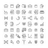 Simple collection of strategy related line icons. Thin line vector set of signs for infographic, logo, app development and website design. Premium symbols Stock Image