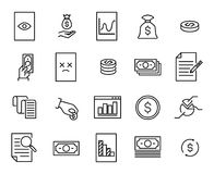 Simple collection of tax related line icons. Thin line vector set of signs for infographic, logo, app development and website design. Premium symbols  on a Stock Photo