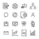 Simple collection of teamwork related line icons. Royalty Free Stock Image
