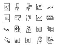 Simple collection of trading related line icons. Thin line vector set of signs for infographic, logo, app development and website design. Premium symbols Stock Photo