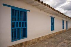 Simple colonial architecture in Villa de Leyva Colombia Royalty Free Stock Photos