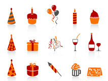 Simple color birthday icon Stock Photos