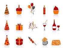 Simple color birthday icon Stock Photos