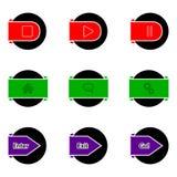 Simple color button design Stock Photos