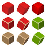 Simple color cubes Royalty Free Stock Photography