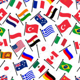 Simple color curved flags of different country seamless pattern eps10 Royalty Free Stock Images