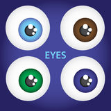 Simple color  eyes eps10. Simple color  eyes set eps10 Stock Illustration