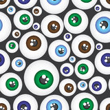 Simple color eyes pattern eps10. Simple color eyes seamless pattern eps10 Stock Illustration