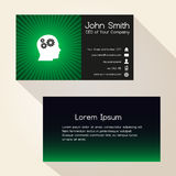 Simple color gradient and stripes wheel green business card design eps10 Stock Photo