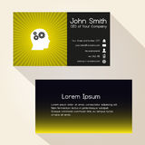 Simple color gradient and stripes wheel yellow business card design eps10 Royalty Free Stock Photo