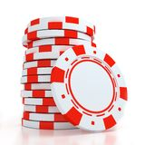 Simple Colored Casino chips Royalty Free Stock Images