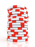 Simple Colored Casino chips. On white background royalty free illustration