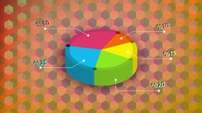 Simple colored  3d pie chart desing with background. Simple colored pie chart desing with background vector illustration Stock Images