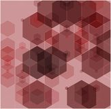 Simple colorful background consisting of hexagons. Abstract background of pink hexagons vector illustration