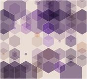 Simple colorful background consisting of hexagons. Abstract background of pink hexagons stock illustration