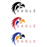 Simple colorful eagles vector design template Royalty Free Stock Photography