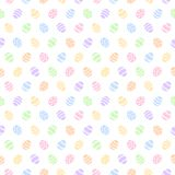 Simple colorful eggs Easter seamless vector pattern. Simple colorful Easter seamless vector pattern. Various painted stylized tiny eggs regular texture. Flat stock illustration