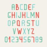 Simple colorful font. Complete abc alphabet set. Royalty Free Stock Image