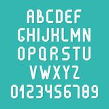 Simple colorful font. Complete abc alphabet set. Stock Images