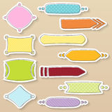 Simple colorful frames and banners with different patterns vector illustration