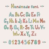 Simple colorful hand drawn font. Complete abc Stock Photo